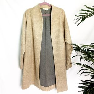 Madewell Herringbone Wool Blend Overcoat - XL